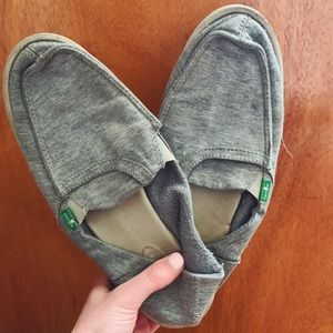 Grey Sanuk Slipons
